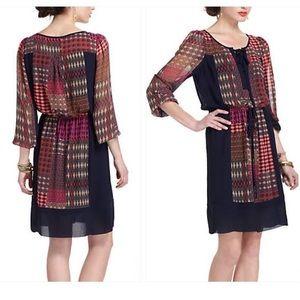 Anthropologie Maeve Rosalie Boho Peasant Dress.